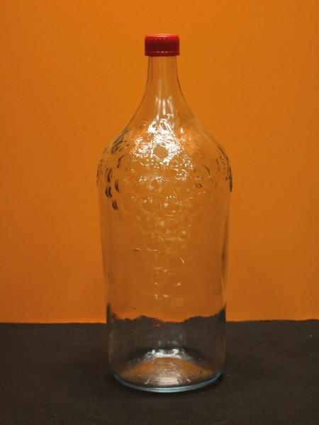 Бутыль стеклянная «Виноград» (2 л.)
