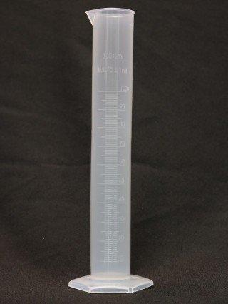 Цилиндр мерный, пластиковый (100 мл.)